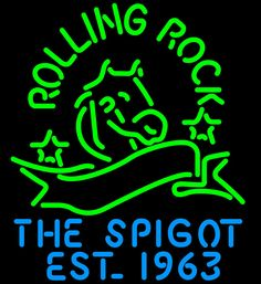 Rolling Rock The Spigot Neon Beer Sign, Rolling Rock Neon Beer Signs & Lights | Neon Beer Signs & Lights. Makes a great gift. High impact, eye catching, real glass tube neon sign. In stock. Ships in 5 days or less. Brand New Indoor Neon Sign. Neon Tube thickness is 9MM. All Neon Signs have 1 year warranty and 0% breakage guarantee.