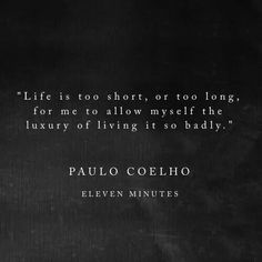I loved this book. It will forever be partly responsible for pushing me to make a huge life decision. Eleven minutes Paulo Coelho