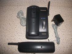 PANASONIC KX-TC1721B 900MHZ 2 LINE CORDLESS PHONE SYSTEM *FREE US SHIPPING #Panasonic