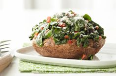 Spinach-Stuffed Portobello Mushrooms is the perfect Earth Day recipe!