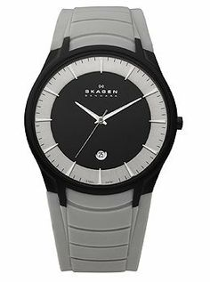 Skagen 3-Hand with Date Silicone Men's watch #955XLBRT Skagen. $108.90. Precise Japan Quartz Movement. Case Size: 41mm Diameter, 6.8mm Thickness. Water Resistant - 50M. Stainless Steel Case, Silicone Rubber Strap. Super Hardened Mineral Crystal, Date Display, Luminous Hands and Markers. Save 25%!