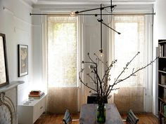 333 -Brooklyn New York Apartment 1 by Workstead Linen blinds, could be coffee sacks?