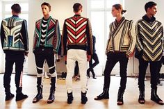 Balmain's Creative Maximalist Menswear Love Fashion, High Fashion, Mens Fashion, Fashion Outfits, Fashion Design, Moda Paris, Kms California, Moda Hippie, Balmain Men