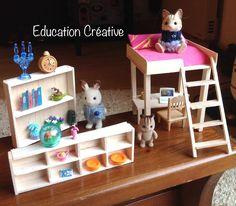 Chambre et salon miniature pour les Sylvanian – Education Creative