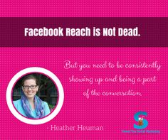 Showing up consistently on social media is very powerful for business growth.