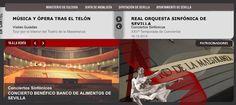 Opera, ballet, teatro, musicales.... Noche para dos!! Ballet, Orchestra, Concert, Town Hall, Musicals, Sevilla, Theater, Night, Ballet Dance