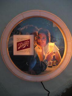 Vintage 1966 Schlitz Beer Light Up Sign Vintage Beer Signs, Vintage Advertisements, Vintage Advertising Signs, Vintage Posters, Old Beer Cans, I Like Beer, Retail Signs, Drinks Alcohol Recipes, Drink Recipes