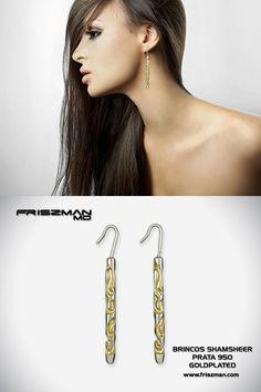 Os Brincos de Prata GoldPlated Shamsheer foram inspirados em Shamshir, um valioso talismã de proteção de origem persa. #brincosdeprata #brincosexclusivos #joiasexclusivas #exclusiveearrings #exclusivejewelry