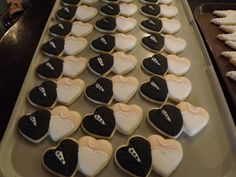 Bride and Groom double heart cookies..... Log House Cookies