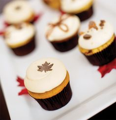 the perfect thanksgiving day cupcake #holidayentertaining