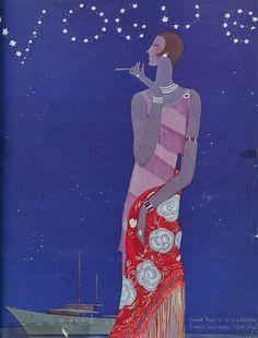 Vogue cover July 1926 #fashion illustration