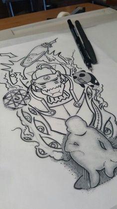 instagram @dare2tattoo fullmetal tattoo design composition