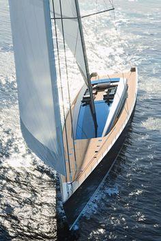 Cruising sailing yacht / deck saloon / custom - EVOE 85 - 100 - 120 - 145 - 180 - CNB Bénéteau #sailingyacht