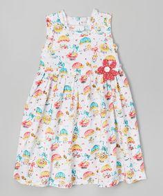 Look what I found on #zulily! Blue & Pink Parachute Babydoll Dress - Infant, Toddler & Girls #zulilyfinds