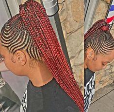 Small Feed In Braids, Feed In Braids Ponytail, Cornrow Ponytail, Braided Bun Hairstyles, African Braids Hairstyles, Braid Hair, Cornrows, Girl Hairstyles, Black Girl Braids