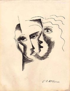 Ossip Zadkine - Le baiser, c.1957-58