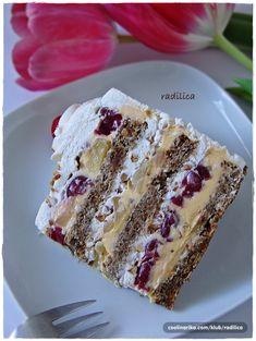 Moskva - jedna, jedina i neprevazidjena — Coolinarika Brze Torte, Torta Recipe, Torte Recepti, Torte Cake, Croatian Recipes, Almond Cakes, Cake Flavors, Sweet Cakes, Homemade Cakes