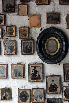 A Stunning Large Collection Of Sixty-Eight Mid 19thC Framed Ambrotype & Daguerrotype Portraits c.1840-60