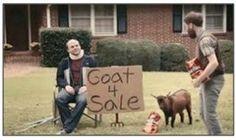 Doritos - Goat 4 Sale - Super Bowl 2013 Commercial - So funny, I love it when the goat screams lmao Doritos, Super Bowl, Viral Marketing, Guerilla Marketing, Goats For Sale, Just For Gags, Funny Commercials, Commercial Ads, I Laughed