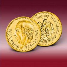 Goldmünze 2,5 Pesos Mexico  Hidalgo 1918 - 48