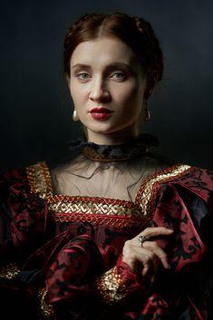 lady of renaissance, costume portrait Renaissance Portraits, Renaissance Costume, Dark Portrait, Masquerade, Portrait Photography, Wonder Woman, Superhero, Fine Art, Apocalypse