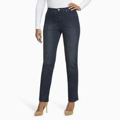 Women's Gloria Vanderbilt Amanda High-Rise Embellished Jeans, Size: 2 - regular, Light Blue