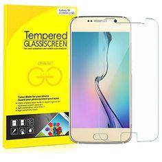 nice S6 Protector de Pantalla, JETech 2-Pack Vidrio Templado Protector de Pantalla Empaquetado al por Menor para Samsung Galaxy S6