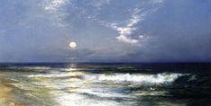 Moonlit Seascape by Thomas Moran