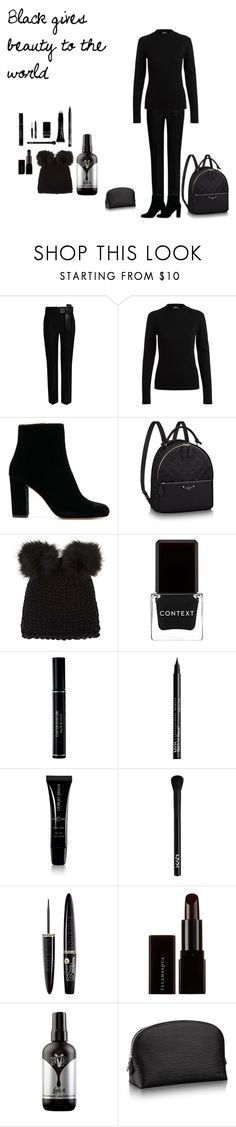"""""""black sparkles in the black of night"""" by hern2401 ❤ liked on Polyvore featuring beauty, Barneys New York, Context, Christian Dior, NYX, Giorgio Armani, Bourjois, Illamasqua and Kat Von D"""