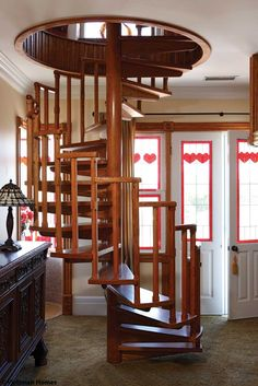This Spiral Staircaseu0027s Design Will Pair Well With Our Arts And Crafts Deck. Idea