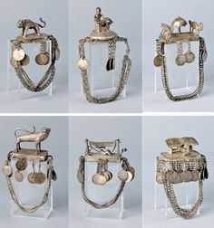 Africa   Voodoo priestess bracelets from the Fon people of Benin   ca. 1st half of the 20th century   Metal with a high silver content   © Collection Denise and Michel Meynet