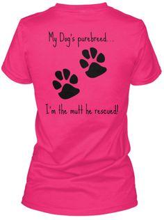 5340cb455e92f4 love the paw prints... Purebred or mutt. Teacher Shirts