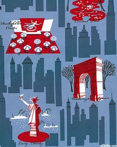 New York City - Fabric - Mid century