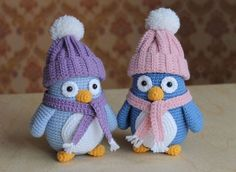 Amigurumi Penguin Pattern – Free – – The Best Ideas Baby Knitting Patterns, Crochet Patterns Amigurumi, Crochet Dolls, Crochet Penguin, Crochet Birds, Crochet Rope, Free Crochet, Crochet Projects, Creations