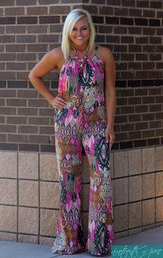 Elan Jumpsuit. Summer Outfit. NOJ Boutique.