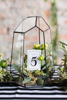 Terrarium Wedding Table Number