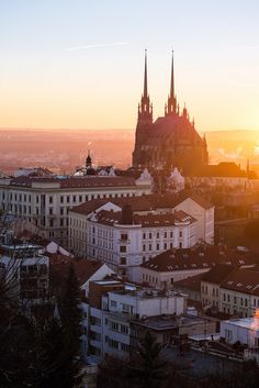travelingcolors:  Sunrise over Brno | Czech Republic (by Marek)