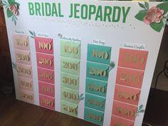 DIY Floral Bridal Shower Jeopardy Game #cricut #bridaljeopardy #flowers
