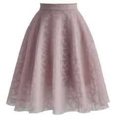 Chicwish Pink the Air Tulle Skirt ($51) ❤ liked on Polyvore featuring skirts, pink, brown skirt, pink tulle skirt, pink layered skirt, textured skirt and brown layered skirt