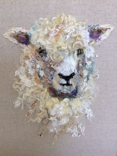 Art in Textiles Cotswold Sheep Hand-stitched Collage Kunst in Textilien Cotswold Sheep # 14 Handgenähte Collage Art quilting Art Inspo, Kunst Inspo, Inspiration Art, Textile Fiber Art, Textile Artists, Fiber Art Quilts, Tag Art, Art Du Collage, Sheep Art