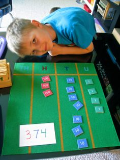 place value with Montessori materials