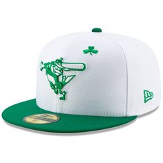 half off 5fef1 db4c8 Men s Baltimore Orioles New Era White Kelly Green 2019 St. Patrick s Day On-