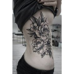 50 Peony Tattoo Designs and Meanings ❤ liked on Polyvore featuring accessories, body art and tattoo