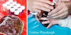 Lego Star Wars birthday party craft galaxy playdough by Ashlee @ imtopsyturvy, via Flickr