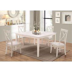 5 Piece Dining Set - Cape Hope Linen White