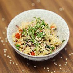 Frühlingssalat mit Hirse Grains, Food, Cooking Recipes, Meal, Essen, Hoods, Meals, Eten, Korn