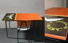 Old schooltable, recycling, upcycled, renovation
