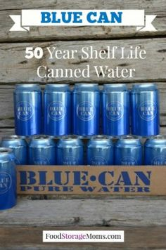 50 Year Shelf Life Canned Water-BLUE CAN by FoodStorageMoms.com