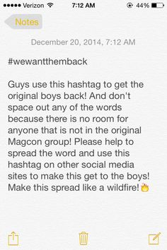 Help the original Magcon boys! #wewanthemback we love them so much and miss them all together reunite them pleaseeee