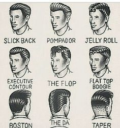 Old School Mens Hairstyles